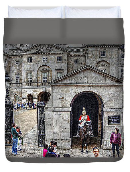 The Horse Guard At Whitehall Duvet Cover
