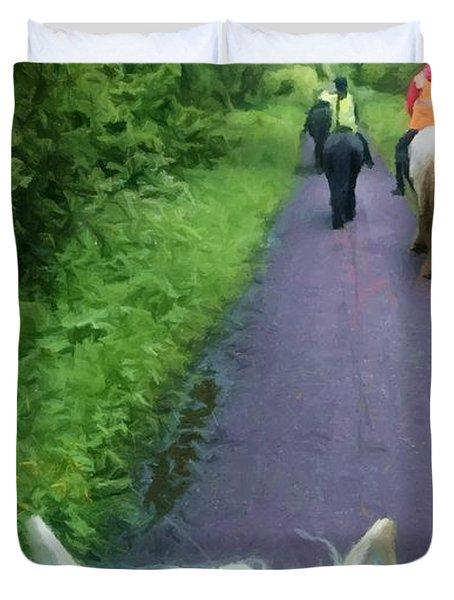 The Horse Ride Duvet Cover