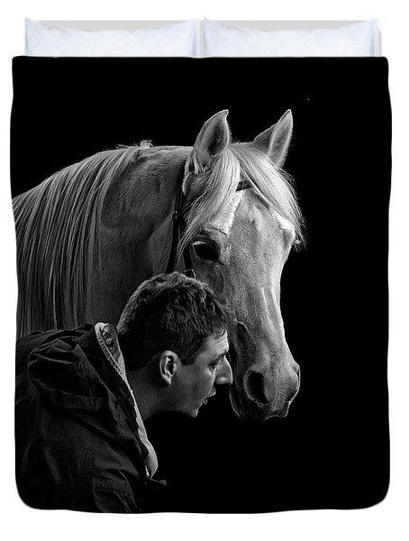 The Horse Whisperer Extraordinaire Duvet Cover