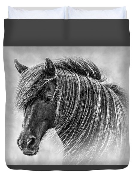 The Horses Of Iceland Duvet Cover