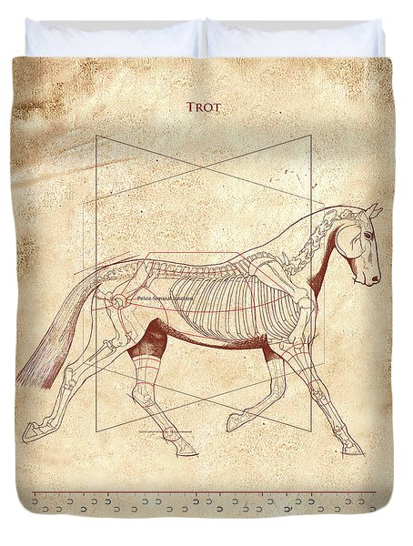 The Horse's Trot Revealed Duvet Cover