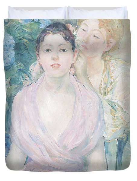 The Hortensia Duvet Cover by Berthe Morisot