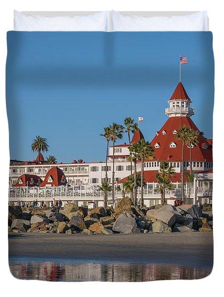 The Hotel Del Coronado Duvet Cover