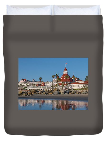 The Hotel Del Coronado Duvet Cover