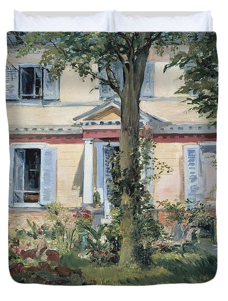 The House At Rueil 1882 Duvet Cover
