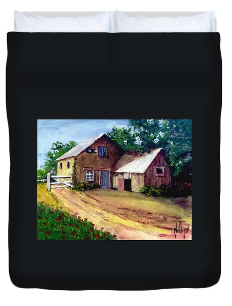 The House Barn Duvet Cover