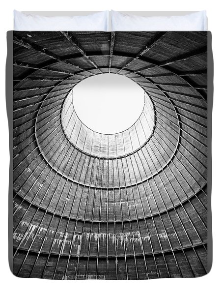 The House Inside The Cooling Tower - Industrial Decay Duvet Cover