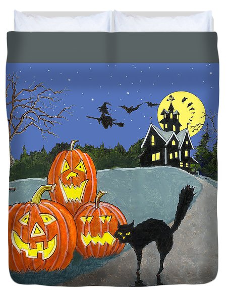 The House On Cemetery Hill Duvet Cover