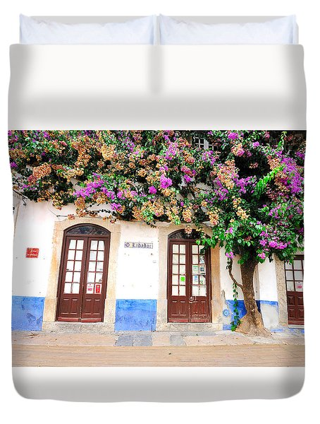 The House With The Bougainvillea Duvet Cover