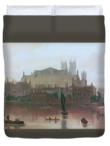The Houses Of Parliament Duvet Cover by George Fennel Robson