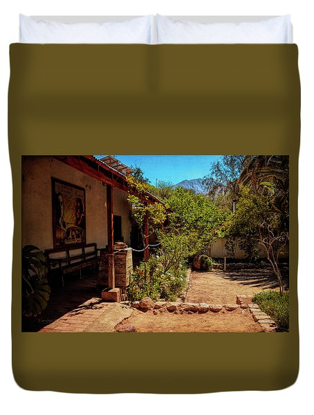 The Humble Home Of A Poet - Elqui Valley, Chile Duvet Cover