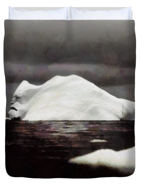 Duvet Cover featuring the photograph The Hunchback Iceberg by Mario Carini