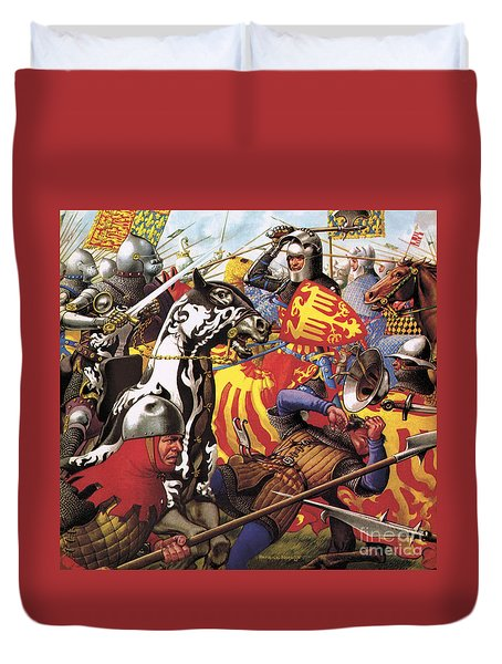 The Hundred Years War  The Struggle For A Crown Duvet Cover