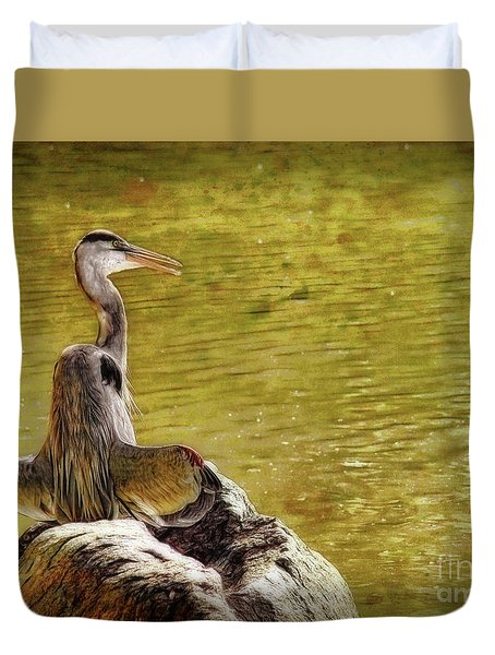 Duvet Cover featuring the photograph The Hunter by Sue Melvin