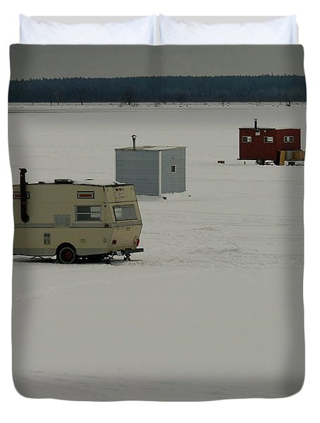 The Huts Duvet Cover