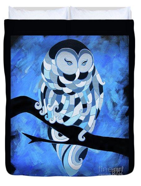 The Ice Owl Duvet Cover