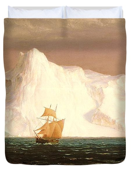 The Iceberg Duvet Cover by Frederic Edwin Church