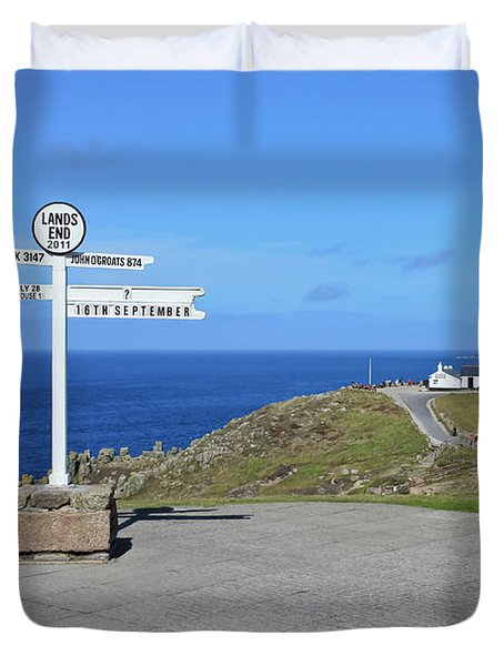 The Iconic Lands End Duvet Cover by Terri Waters