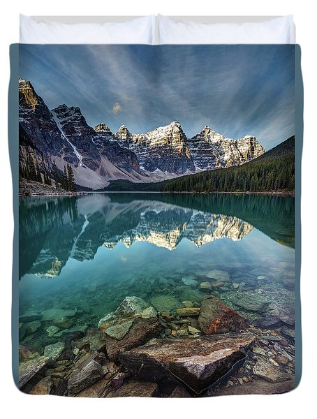 The Iconic Moraine Lake Duvet Cover