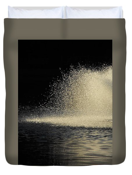 The Illusion Of Dark And Light With Water Duvet Cover