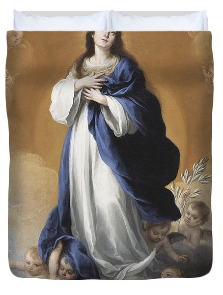 The Immaculate Conception  Duvet Cover by Bartolome Esteban Murillo