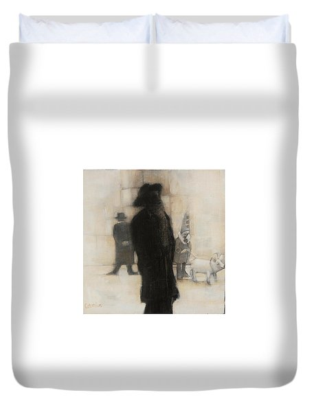 The Incongruity Of It All  Duvet Cover by Jean Cormier