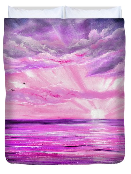 The Incredible Journey - Purple Sunset Duvet Cover