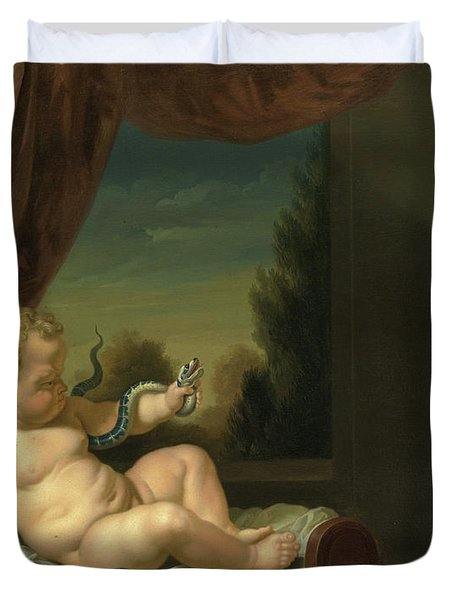 The Infant Hercules With A Serpent Duvet Cover