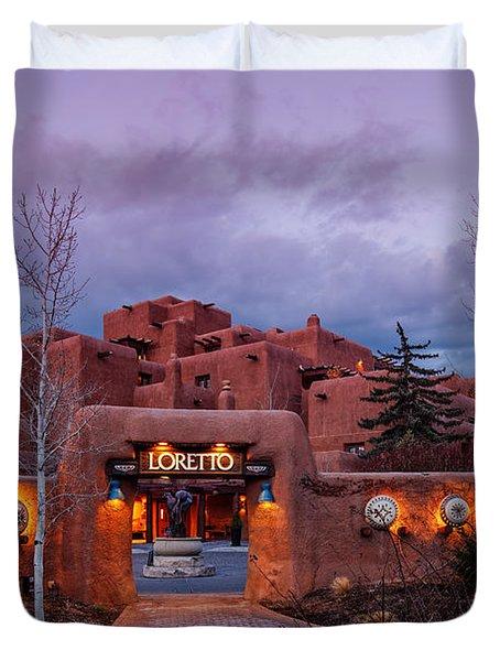 The Inn At Loretto At Twilight - Santa Fe New Mexico Duvet Cover