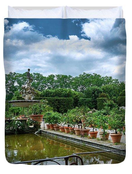 Inside The Boboli Gardens Of Firenze Duvet Cover