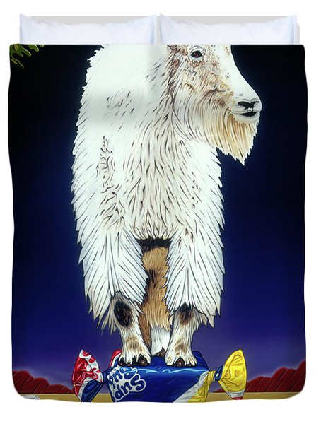 The Intoxicated Mountain Goat Duvet Cover