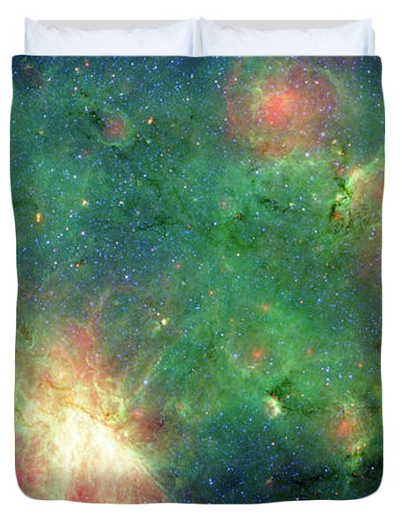Duvet Cover featuring the photograph The Invisible Dragon by NASA JPL-Caltech