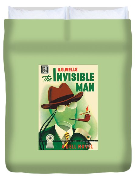 Duvet Cover featuring the painting The Invisible Man by Gerald Gregg