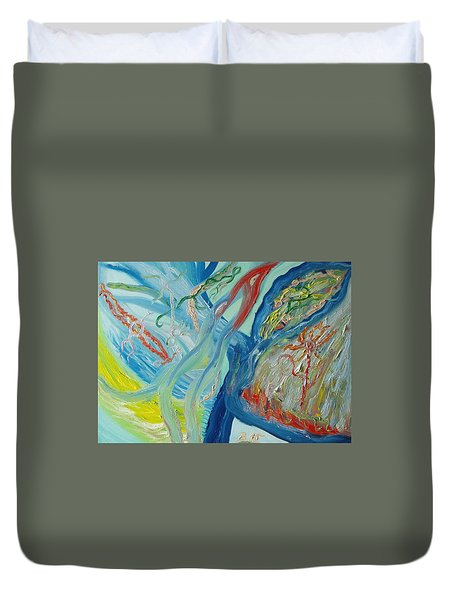 The Invisible World Duvet Cover