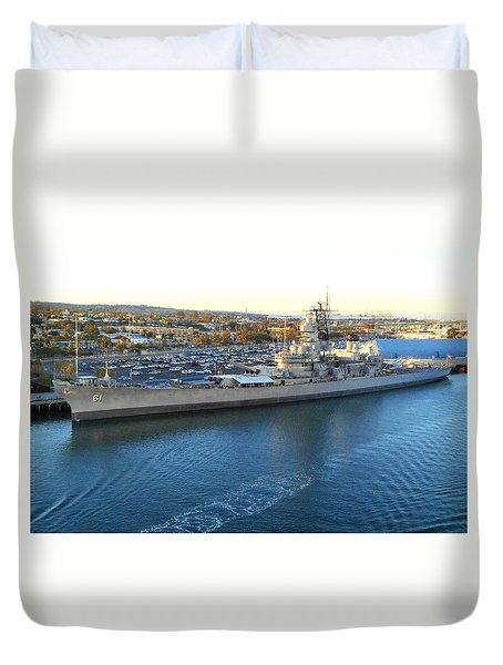 Duvet Cover featuring the photograph The Iowa At Sunset by Joe Kozlowski