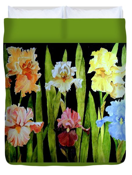 The Iris Garden Duvet Cover