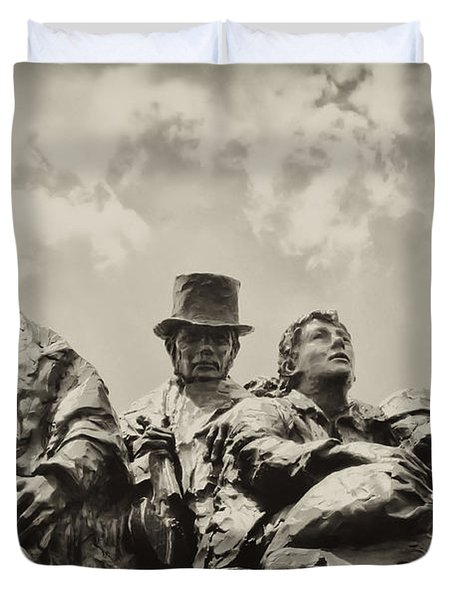 The Irish Emigration Duvet Cover by Bill Cannon