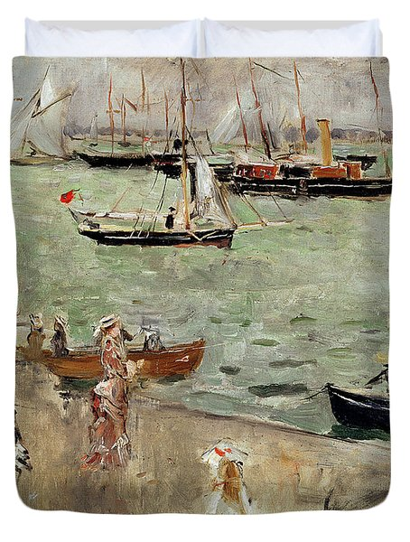 The Isle Of Wight Duvet Cover by Berthe Morisot