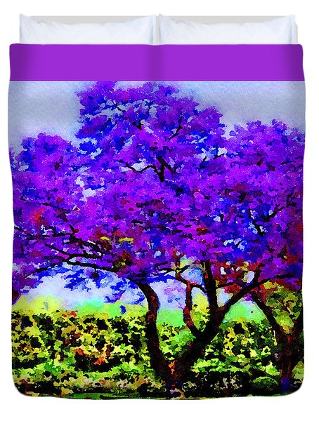 The Jacaranda Duvet Cover