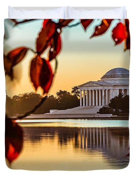 Jefferson In Autumn Duvet Cover
