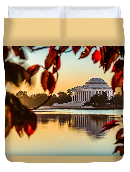 Jefferson In Autumn Duvet Cover