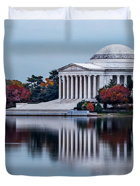 The Jefferson In Baby Blue Duvet Cover
