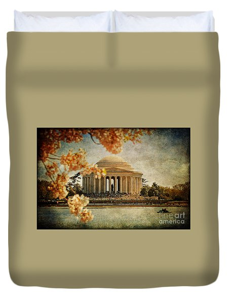 The Jefferson Memorial Duvet Cover by Lois Bryan