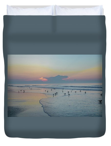 Duvet Cover featuring the photograph The Jersey Shore - Wildwood by Bill Cannon