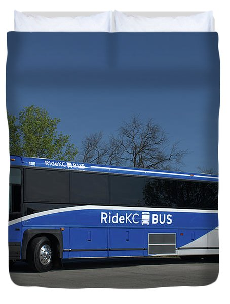 The Jo Bus 406 Mci Duvet Cover