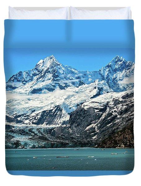 The John Hopkins Glacier Duvet Cover