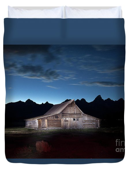 The John Moulton Barn On Mormon Row At The Base Of The Grand Tetons Wyoming Duvet Cover