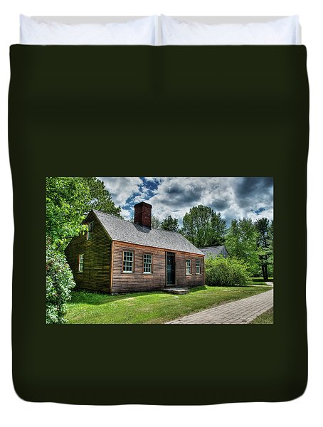 The John Wells House In Wells Maine Duvet Cover