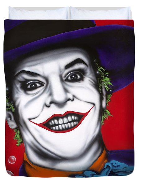 The Joker Duvet Cover by Alicia Hayes