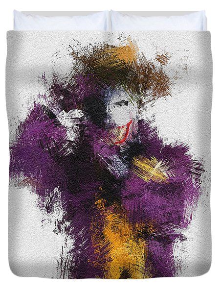 The Joker Duvet Cover by Miranda Sether